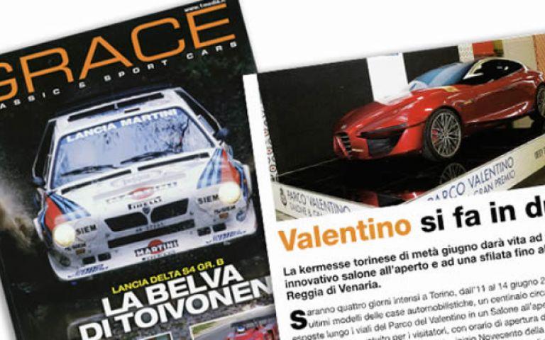 Parco Valentino in edicola sul Grace Classic & Sport Cars